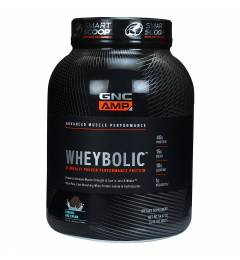 GNC AMP Wheybolic- 40g Protein, 15g BCAA, 10g Leucine, 1g Velositol - 3.42 lbs, 1.5 kg (Cookies and Cream)